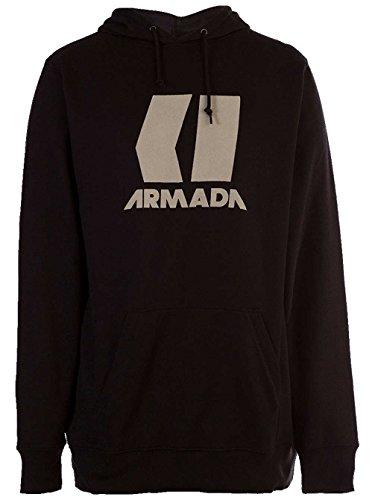 Armada Icon Mens Hoodie - Large/Black-Canvas (Armada Hoodie)