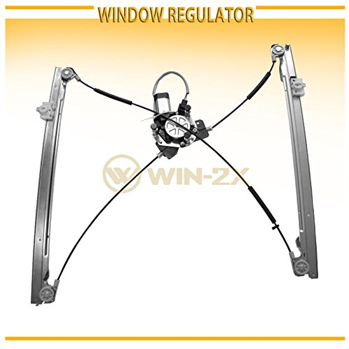 (WIN-2X New 1pc Front Driver Left Side Power Window Regulator With Motor Assembly Fit 01-03 Chrysler Town & Country/Voyager Dodge Caravan/Grand Caravan)