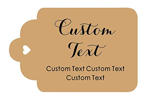 100 PCS Personalized Paper Hang Tags Made Any Text Custom Tags Wedding Favor Gifts (Hang 100 Tags)