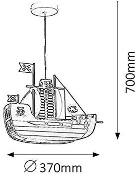 Rabalux rab4719 Ship - Lámpara de techo colgante para habitación infantil, diseñode barco pirata