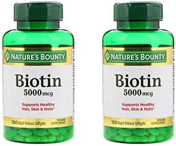 Set of 2 Nature's Bounty® Biotin 5000 mcg, 150 Softgels