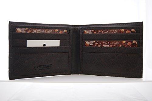Rowallan Drum gefärbtes Büffel-Leder, zwei Schnallen, Tasche für Männer + Bonus Rowallan Geldbeutel (erste Qualität) -Der Raffinierte Und Sichere Weg, Ihren Tech Zu Bewegen