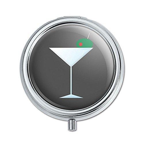 Martini Glass Olive Pill Case Trinket Gift Box