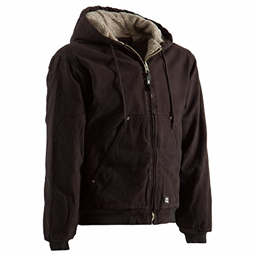 Berne Men's High Country Hooded Jacket Sherpa Lined Dark Brown XX-Large from Berne