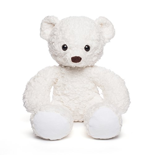 Cuddle White Bear - Bears For Humanity Organic Sherpa Bear Plush Animal Toy, White, 16