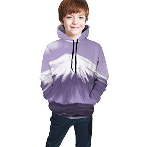 3D Print Teens Pullover Hoodies Mount Fuji Drawing Fleece Hooded Sweatshirt for Boys Girls