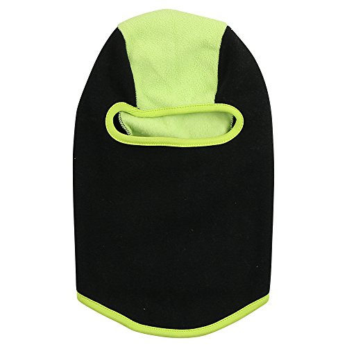 Girls Insulating 2-Tone Lightweight Fleece Balaclava (7-16, Black / Neon)