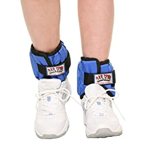 Well-Being-Matters 41QjVFYTipL._SS300_ All Pro Weight Adjustable Ankle Weights, 10-lb pair (up to 5-lbs per ankle)