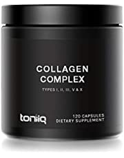 Multi Collagen Pills (Type I, II, III, V & X) - Grass-Fed from New Zealand and Wild-Caught from Norway - Collagen Peptides Protein Blend for Anti-Aging, Hair, Skin, Nails and Joints - 120 Capsules