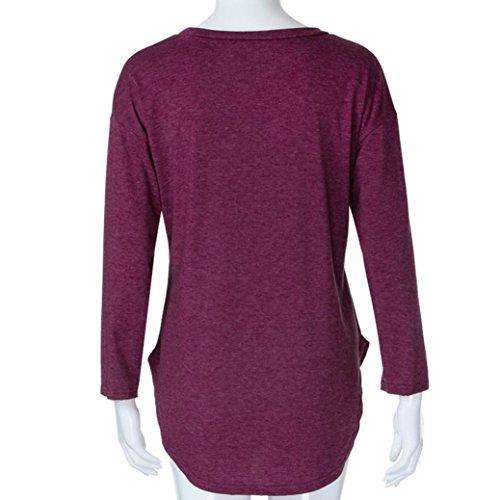 Oansatz Mode Strickjacke Frauen Beil shirt ufige Tasche T Adeshop Fr Bluse Pailletten xoQrCdWeB