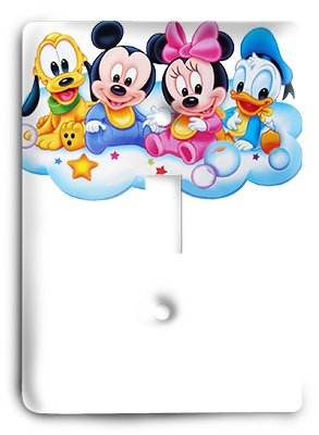 Disney Babies - Mickey Mouse Light Switch by Single Light Switch Cover