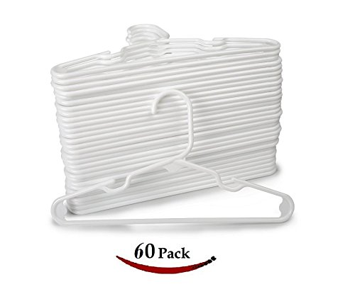White Nursery Hangers 30 Pack For Baby, Toddler, Kids, Children (60 Pack) by 1InTheHome
