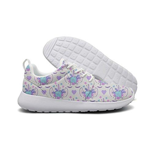 Casual Purple Nana 1 Womens Shoes Flex mom Sneakers Roshe Mom Flowers Unicorn Sports Nana Lightweight Running Mesh Purple Hoohle B7xwqHAaH