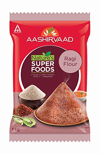 Aashirvaad Nature's Super Foods Ragi Flour Pouch, 1 kg