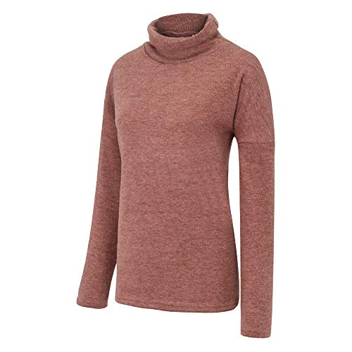 Marron Chandaille Femme Sanfashion Tops Sweat Casual Manche Pull Roulé Chaud Tricoté Longue Mode Col aRxwfOxCq