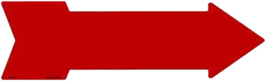 Smart Blonde Outdoor Decor Red Novelty Metal Arrow Sign A-106