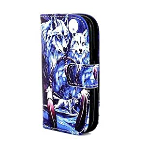 ZL Wolf in Dream Pattern PU Leather Full Body Case for Samsung Galaxy Trend Lite S7390/S7392