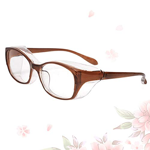 Anti Fog Safety Glasses, Anti Pollen Safety Goggles with UV400 Protection for Women Men Brown