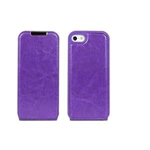Flipcase Fashion Crazy Horse Premium Flip leather Case Cover For Apple iPhone 5 5G 5S Purple