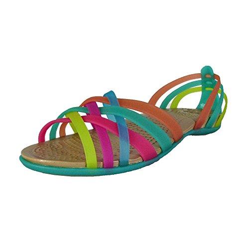- Crocs Womens Women's Huarache Ballet Flat,Multi/Island Green,4 M US