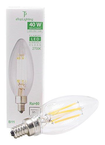 eTopLighting 12 Pack) LED Filament 40 Watt Dimmable 120 V...