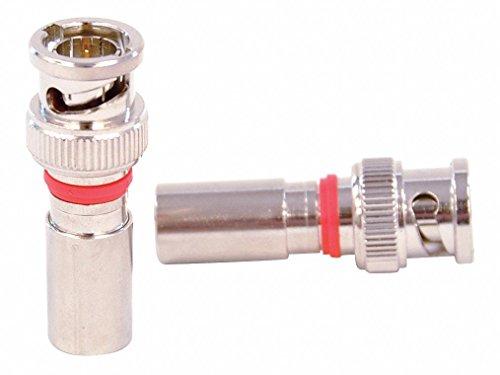 Cable Coupler,BNC/Male,RG6 Coax,PK10 Bnc Compression Connector Rg6/u Quad