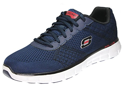 Skechers Sport Männer Synergy Power Switch Memory Foam Athletic Training Sneaker Navy / Rot