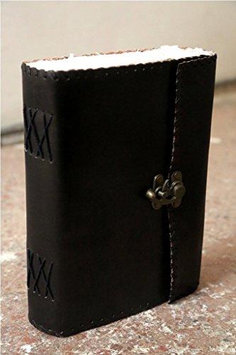 QualityArt Vintage Black Book Of Shadow handmade Leather journal Sketchbook Artist Fat Book - Artist Handmade Books