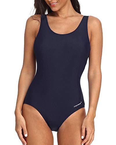 StarTreene Women Athletic One Piece Swimsuits Racerback Swimwear