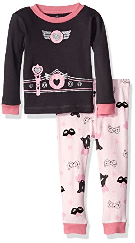 Petit Lem Boys' Pajama 2 Piece Set, Super Hero Girl, 12M ()