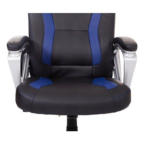 HomCom Race Car Style PU Leather Heated Massaging Office Chair - Blue by HOMCOM (Image #7)