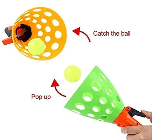 FunBlast Click and Catch Twin Ball Game Indoor Outdoor Toy Set, Pop & Catch Ball Play Fun Boys & Girls (Color May Vary) 5