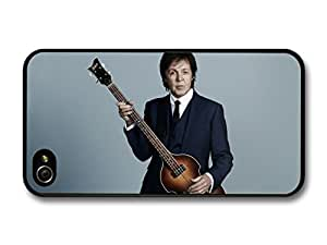 Paul McCartney The Beatles Portrait in Outfit Posing with Bass Guitar case for iPhone 4 4S