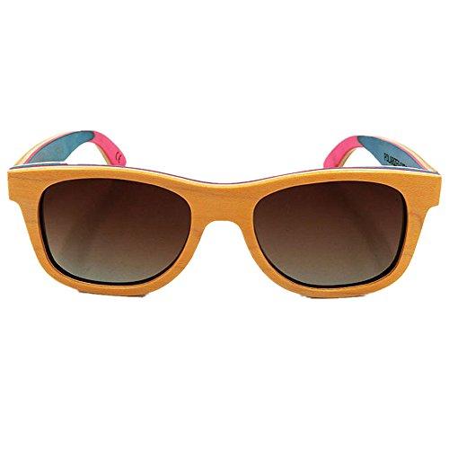 Couleur Bois Rouge UV400 Handcraft de Rimmed Adulte Couleur Protection Fashion Orange Unisexe Yeux de Soleil Peggy Shades Gu pour Coloré en lentille Style des rétro Lunettes Protection xa4q08wS4