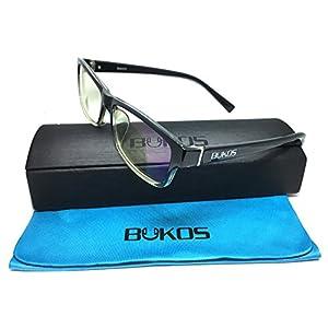 Blue Light Blocking Glasses by Bukos - FDA Approved - Men, Women - Sleep Better - Reduce Eyestrain / Eye Fatigue / Headlight glare, Protection for Computer / Digital screens - 100% Guaranteed -Unisex