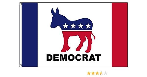Amazon Democrat Donkey Polyester 3x5 Foot Flag Democratic