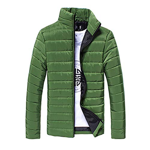 LISUEYNE Jacket Quilted Coat Dark Men's Green Puffer Winter qqawAR4r