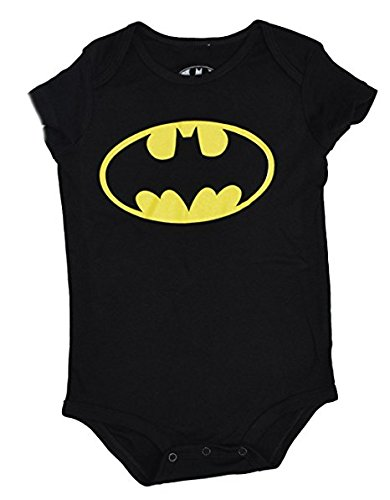 DC Comics Batman Logo Onesie Romper (18 Months, Black)