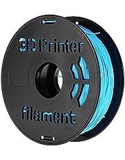 Decdeal 1KG/ Spool 1.75mm Flexible TPU Filament Printing Material Supplies White, Black, Transparent for 3D Printer Drawing Pens Light Blue