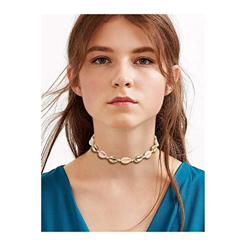 MOLOCH Shell Choker Necklace (White Gold ()