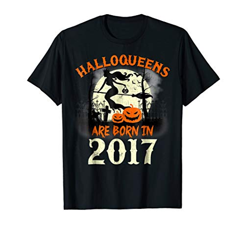 Halloqueens Are Born In 2017 T-Shirt 1 Year Old Halloween for $<!--$19.99-->