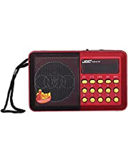 Joc H044U Portable Digital Radio with Mp3 Player - Red