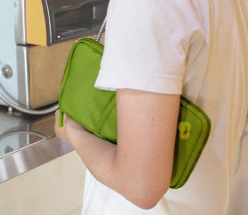 Tangda Dokumententsche Pass-Tasche Kreditkarte-Tasche Halter-Beutel Geldbeutel Handtasche Tasche für Reisen - Grün