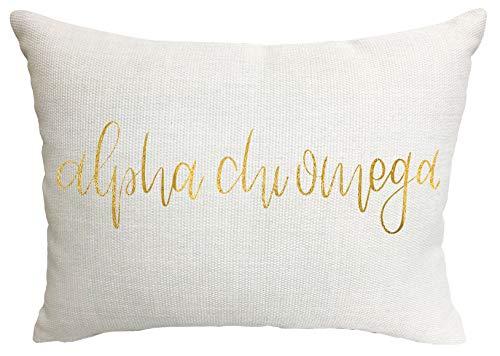 Alpha Chi Omega Sorority Throw Pillow