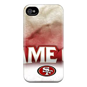 Shock Absorption Cell-phone Hard Cover For Iphone 4/4s With Allow Personal Design Trendy San Francisco 49ers Series ColtonMorrill