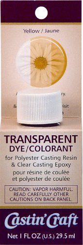 Environmental Technology 1-Ounce Casting' Craft Transparent Dye, Yellow