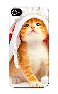 Iphone 5/5s Case, Premium Protective Case With Awesome Look - Holidays Christmas Seasonal Cats (gift For Christmas)