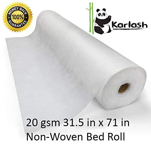 Karlash Disposable Non Woven Bed Sheet Roll Massage table paper roll 20gms Thick (PACK OF 8)