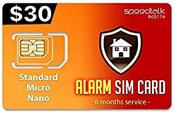 30 Gsm Alarm Sim Card Home Business Security Alarm System No Contract 6 Months Wireless Service 2g 3g 4g Lte