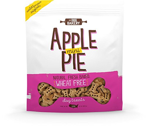 (The Dog Bakery Wheat Free Bones Natural Made in USA Healthy Dog Treats Biscuits Bone Small Mini Great Training Limited Ingredients Crunchy Real Apples Cinnamon (Apple Pie, 2 LB Bag, Mini Size Bones) )